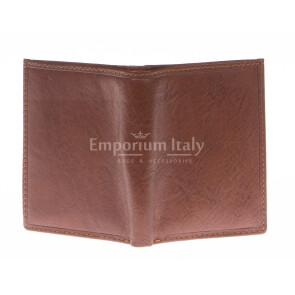 Кошелёк мужской из натуральной традиционной кожи SANTINI, мод.OLIVER, цвет КОРИЧНЕВЫЙ, производство Италия.