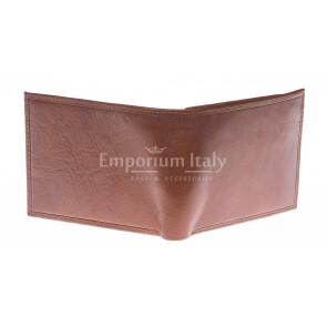 Кошелёк мужской из натуральной традиционной кожи SANTINI, мод. SERBIA, цвет КОРИЧНЕВЫЙ, производство Италия.