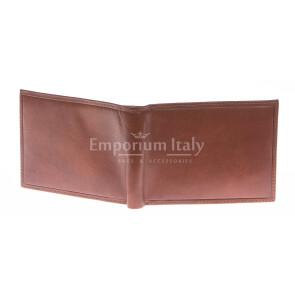 Кошелёк мужской из натуральной традиционной кожи SANTINI, мод. ANDORRA, цвет КОРИЧНЕВЫЙ, производство Италия.
