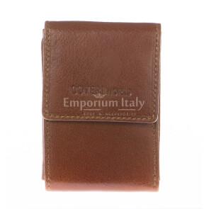 Кошелёк мужской из натуральной кожи соваж COVERI, мод. ARMENIA, цвет КОРИЧНЕВЫЙ, производство Италия.