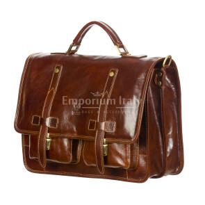 ERNESTO: cartella /borsa ufficio uomo, in cuoio, colore: TESTAMORO, Made in Italy