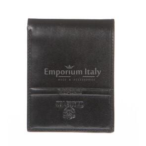 Кошелёк мужской из натуральной традиционной кожи EMPORIO VALENTINI, мод. RUSSIA, цвет ЧЁРНЫЙ, производство Италия.