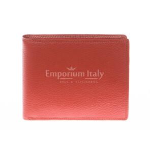 Кошелёк мужской из натуральной традиционной кожи SANTINI, мод. SLOVACCHIA, цвет ОРАНЖЕВЫЙ, производство Италия.