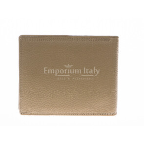 Кошелёк мужской из натуральной традиционной кожи SANTINI, мод. SLOVACCHIA, цвет ТЁМНО-СЕРЫЙ, производство Италия.