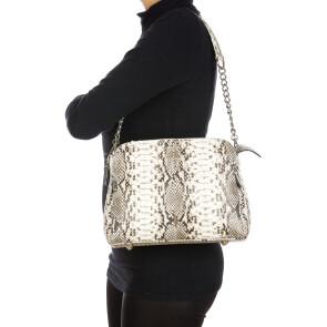 MIA : borsa donna in pelle di pitone, colore : ROCCIA, Made in Italy (Borsa)