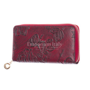 AZALEA : portafoglio donna in cuoio, colore : ROSSO, Made in Italy