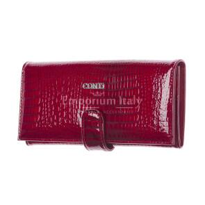 MELISSA : portafogli donna in pelle laccata, colore : ROSSO, Made in Italy