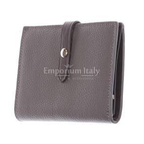 ABELIA MINI: женский кошелек, мягкая, сверхтонкая кожа, цвет: СЕРО-КОРИЧНЕВЫЙ, сделано в Италии