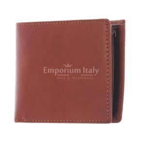 LAOS: мужской кожаный кошелек, цвет: МЕДОВЫЙ - ТЕМНО КОРИЧНЕВЫЙ, сделано в Италии