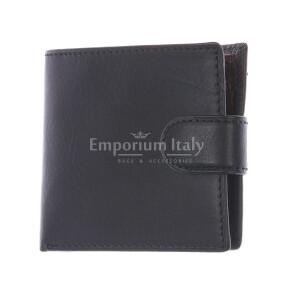 LESOTHO: мужской кожаный кошелек, цвет: ЧЕРНЫЙ- КОРИЧНЕВЫЙсделано в Италии