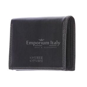 BOSNIA: мужской кошелек из  кожи цвет: черный Coveri, сделано в Италии