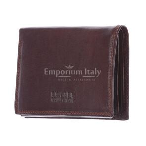 BOSNIA: мужской кошелек из темно-коричневой кожи от Coveri, сделано в Италии