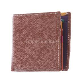 SLOVACCHIA MINI: мужской кошелек, средний размер, цвет: КОРИЧНЕВЫЙ-МУЛЬТИКОЛОР, сделано в Италии