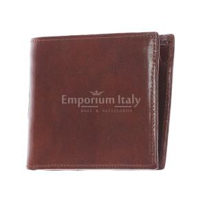 TRENTO: мужской кошелек, из итальянской кожи, цвет: коричневый, сделано в Италии