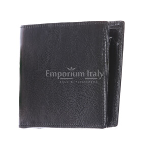 TRENTO: мужской кошелек, из итальянской кожи, цвет: ЧЕРНЫЙ, сделано в Италии