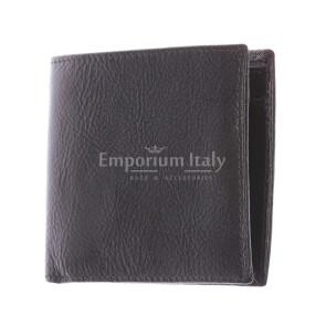 TRENTO: мужской кошелек, из итальянской кожи, цвет: ТЕМНО КОРИЧНЕВЫЙ, сделано в Италии