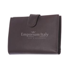 BRUNEI: мужской кожаный кошелек, цвет: ТЕМНО КОРИЧНЕВЫЙ, сделано в Италии