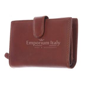 BAHAMAS MINI: portafoglio uomo in cuoio con la chiusura, colore: MARRONE, Made in Italy