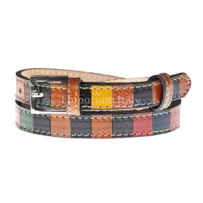 Cintura donna in vera pelle NORCIA, MULTICOLORE, CHIARO SCURO, Made in Italy