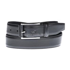 Cintura uomo in vera pelle GUBBIO, colore NERO, EMPORIO TITANO, Made in Italy