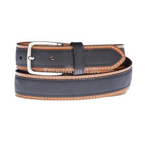 Cintura uomo in vera pelle MONTECCHIO, colore NERO/MARRONE, RINO DOLFI, Made in Italy
