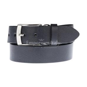 Cintura uomo in vera pelle MAGIONE, colore BLU SCURO, EMPORIO TITANO, Made in Italy