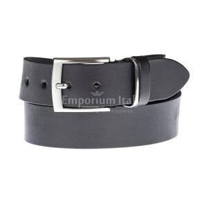 Cintura uomo in vera pelle MAGIONE, colore NERO, EMPORIO TITANO, Made in Italy