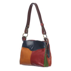 Borsa donna in vera pelle BENEDETTA SMALL, MULTICOLORE, SANTINI, MADE IN ITALY