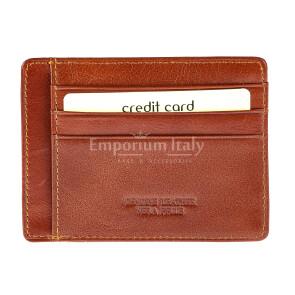 Portatessere - Carte di Credito da uomo in vera pelle HONG KONG, colore MIELE, EMPORIO TITANO