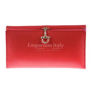 Portafoglio in vera pelle da donna MIMOSA MAXI, colore ROSSO, SANTINI, MADE IN ITALY