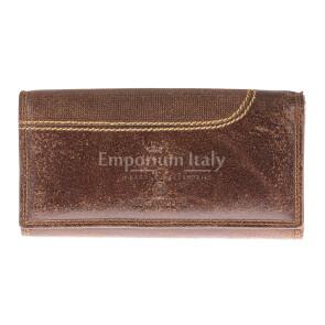 Portafoglio in vera pelle nabuk da uomo ISLANDA, colore MARRONE, BB CAVALLI, MADE IN ITALY
