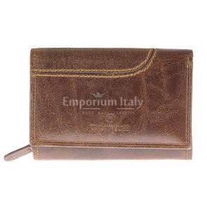 Portafoglio in vera pelle nabuk da uomo ISLANDA SMALL, colore MARRONE, BB CAVALLI, MADE IN ITALY