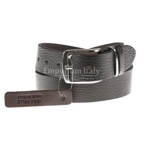 Cintura uomo in vera pelle L'AQUILA, colore MARRONE, EMPORIO TITANO, Made in Italy