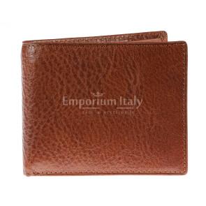 Portafoglio da uomo in vera pelle TALLINN, colore MARRONE, RINO DOLFI, MADE IN ITALY