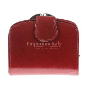 Portafoglio in vera pelle da donna ANGELICA, colore ROSSO, SANTIINI, MADE IN ITALY
