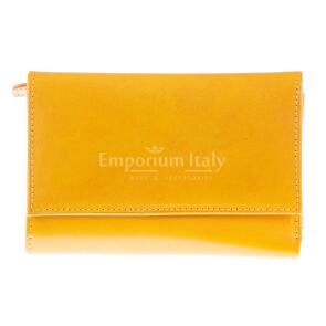 Portafoglio in vera pelle da donna ACACIA, colore GIALLO, SANTINI, MADE IN ITALY