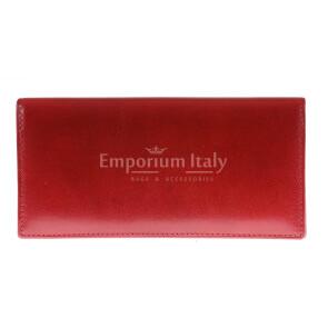 Portafoglio in vera pelle da donna POPPY, colore ROSSO, SANTINI, MADE IN ITALY