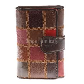 Portafoglio in vera pelle da donna GINEPRO, MULTICOLORE, ARIANNA DINI, MADE IN ITALY
