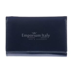 Portafoglio in vera pelle da donna ARTEMISIA, colore BLU, SANTINI, MADE IN ITALY