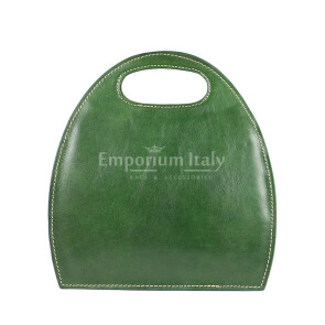 Borsa donna in vera pelle RINO DOLFI mod. WINONA, colore VERDE, Made in Italy.