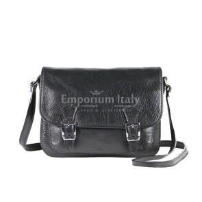 Borsa donna in vera pelle RINO DOLFI mod. KIM colore NERO Made in Italy