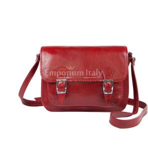 Borsa donna in vera pelle RINO DOLFI mod. KIM colore ROSSO Made in Italy.