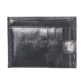 Mens / Ladies credit card holder in traditional leather mod. NORVEGIA