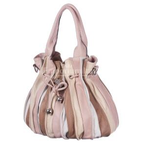 Borsa donna in vera pelle DELIA REI mod. SABRINA colore MULTICOLORE Made in Italy