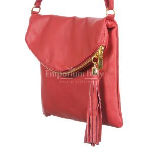 Borsa donna in vera pelle CHIARO SCURO mod. PAOLA colore ROSSO Made in Italy