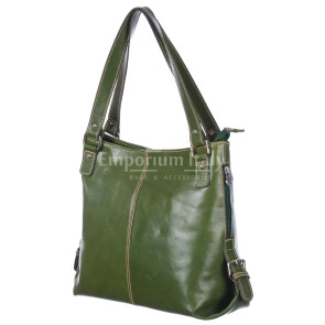 Borsa donna in vera pelle RINO DOLFI mod. ANTONELLA colore VERDE Made in Italy