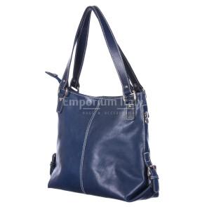 Borsa donna in vera pelle RINO DOLFI mod. ANTONELLA colore BLU Made in Italy