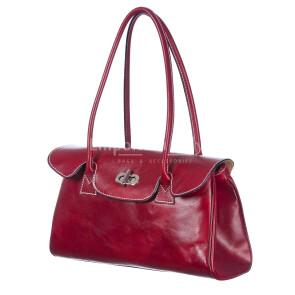 Borsa donna in vera pelle RINO DOLFI mod. MARGHERITA colore ROSSO Made in Italy