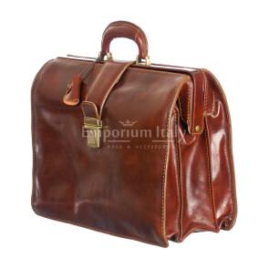 Cartella ufficio / lavoro in vera pelle RINO DOLFI mod. VALERIO colore MARRONE Made in Italy.