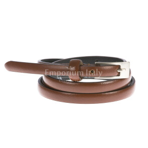 Ladies buffered real leather belt mod. LISBONA